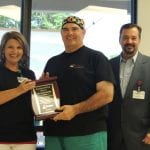 Dr. Carlos Rocha was recently named MRHS Physician of the Year at the annual Hospital Week Employee Cookout and awards presentation